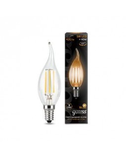 Лампа светодиодная Gauss E14 5W 2700K прозрачная 1/10/50 104801105