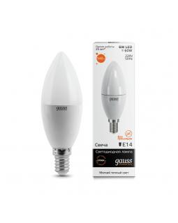 Лампа светодиодная Gauss E14 6W 3000K матовая 33116