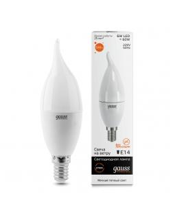 Лампа светодиодная Gauss E14 6W 3000K матовая 34116
